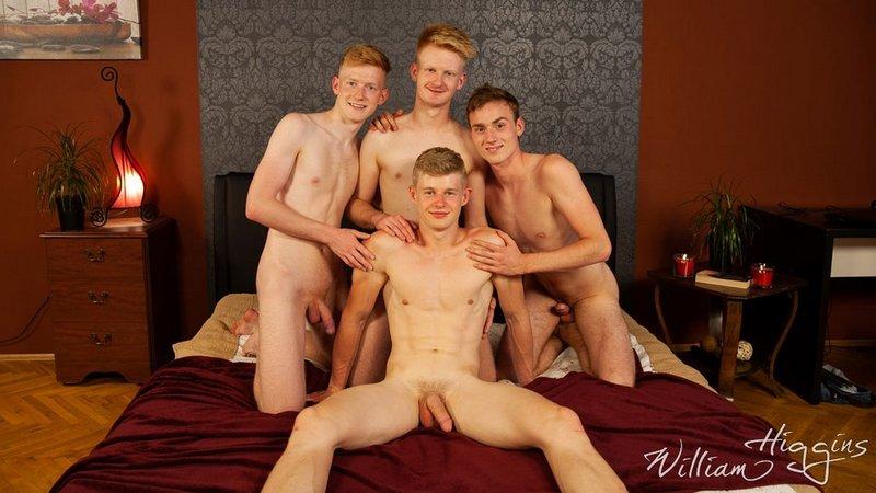 4 jeunes mecs chauds