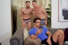 Une double éjac faciale inattendue – Pierce Paris, Nate Grimes & Johnny B